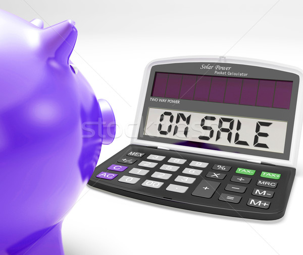 On Sale Calculator Shows Price Cut And Saving Stock photo © stuartmiles