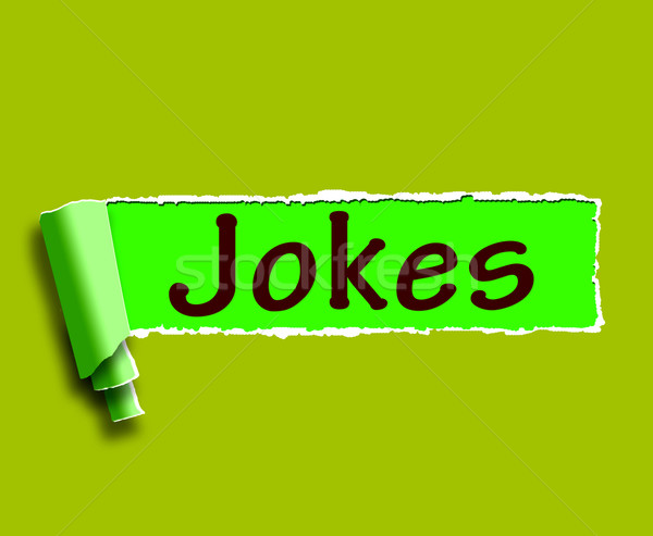 Jokes Word Means Humour And Laughs On Web Stock photo © stuartmiles