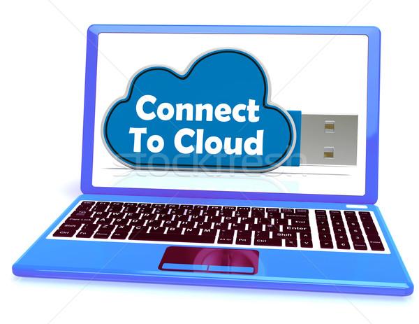 Bağlamak bulut bellek çevrimiçi dosya depolama Stok fotoğraf © stuartmiles