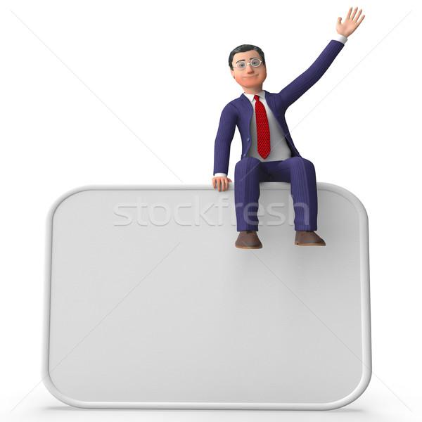 üzletember üres hely üres hely felirat üzletember vállalati Stock fotó © stuartmiles