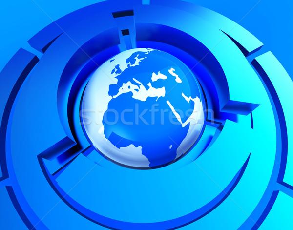 世界的な 世界中 ウェブサイト 地球 惑星 ストックフォト © stuartmiles