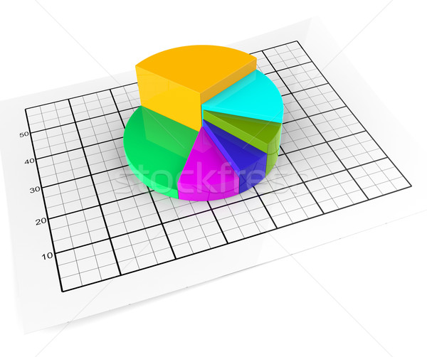 Pie Chart Shows Business Graph And Graphic Stock Photo Stuart