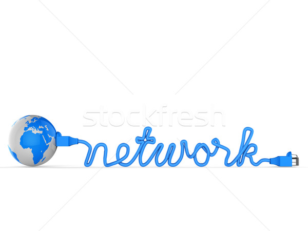 Worldwide Network Indicates Global Communications And Connection Stock photo © stuartmiles