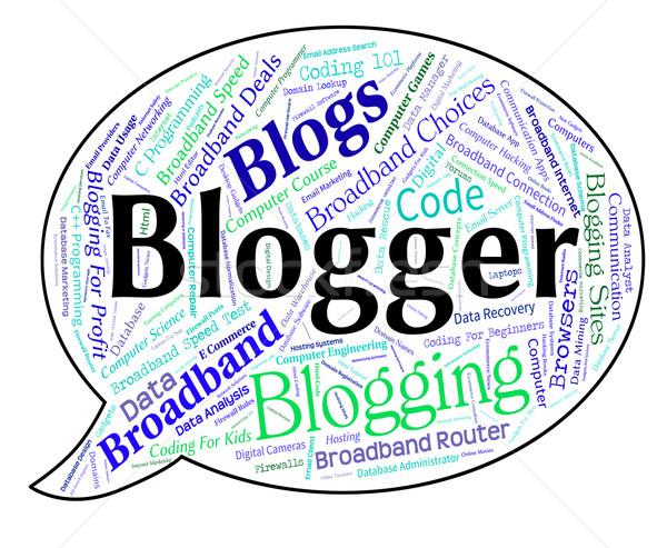 блоггер слово слов Сток-фото © stuartmiles