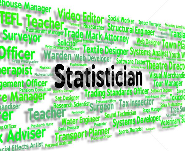 Iş analiz kelime istatistik Stok fotoğraf © stuartmiles