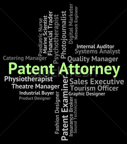 Patent prawnik prawnych przedstawiciel doradca pracy Zdjęcia stock © stuartmiles