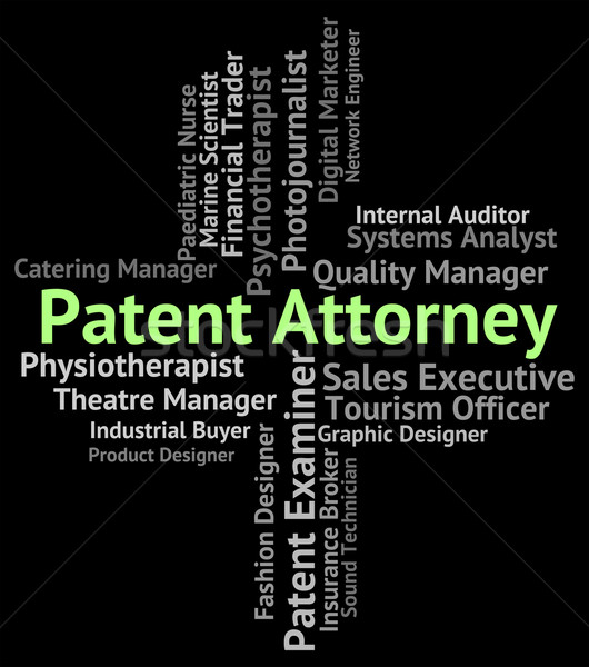 Stock photo: Patent Attorney Represents Legal Representative And Qc