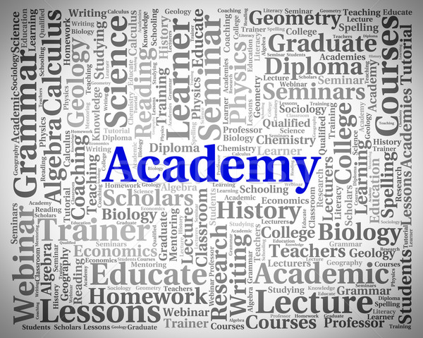 Academy Word Shows School Schools And Colleges Stock photo © stuartmiles