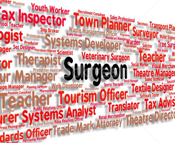 Chirurg baan algemeen beoefenaar tonen dokter Stockfoto © stuartmiles