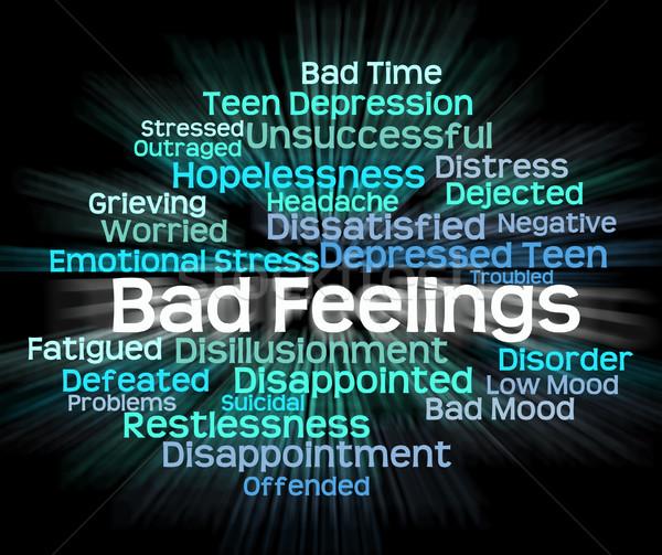 Rossz érzés gyűlölet szófelhő jelentés beteg Stock fotó © stuartmiles