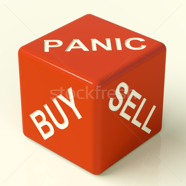 Buy Panic And Sell Dice Representing Market Stress Stock photo © stuartmiles