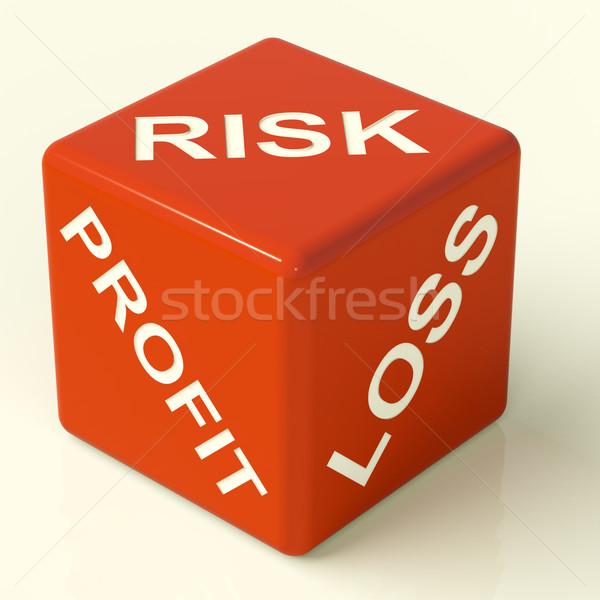 ストックフォト: 利益 · 損失 · サイコロ · 市場 · 不確実性