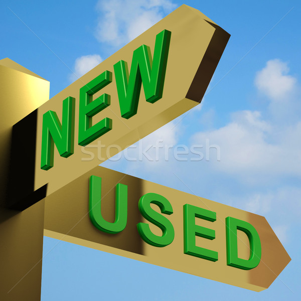 New Or Used Directions On A Signpost Stock photo © stuartmiles