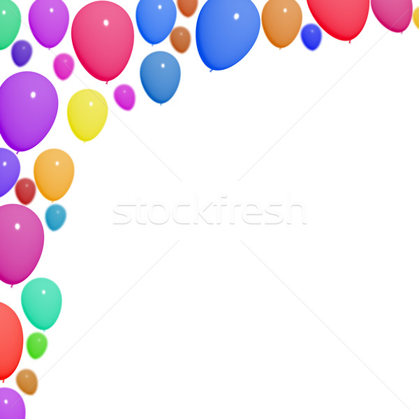 Festive Colorful Balloons For Birthday Celebrations With Blank C Stock photo © stuartmiles
