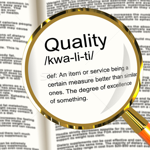 Quality Definition Magnifier Showing Excellent Superior Premium Stock photo © stuartmiles