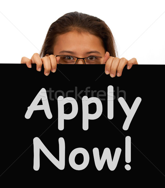 Apply Now Sign For Work Application Stock photo © stuartmiles