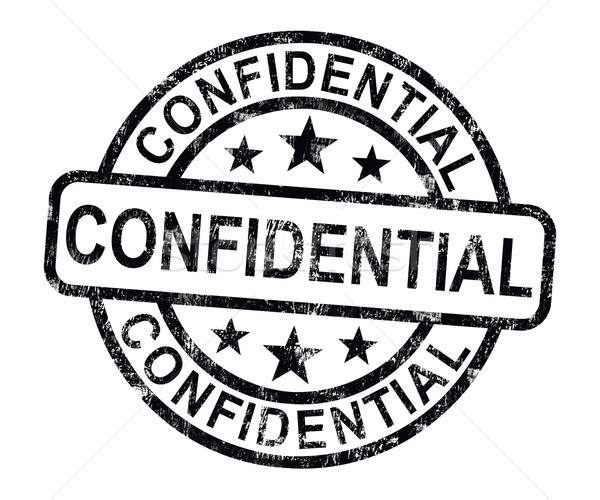 Confidential Stamp Shows Private Correspondence Or Documents Stock photo © stuartmiles