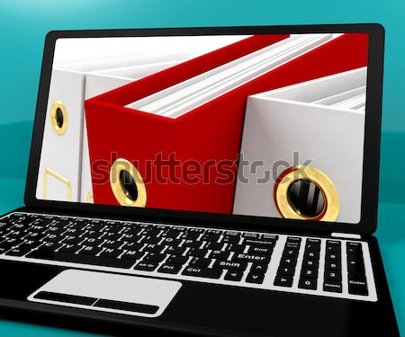 Red File Amongst White Closeup For Getting The Office Organized Stock photo © stuartmiles