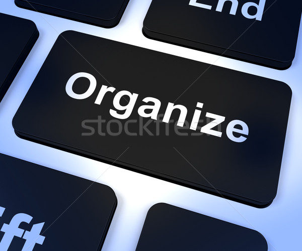 Organize Computer Key Showing Managing Online Stock photo © stuartmiles