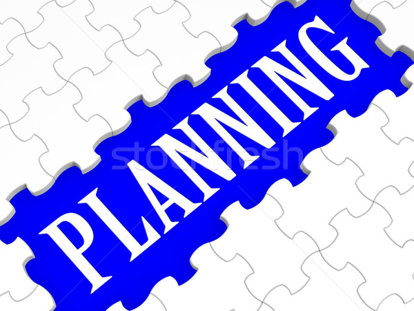 Planning Puzzle Showing Intention And Goals Stock photo © stuartmiles
