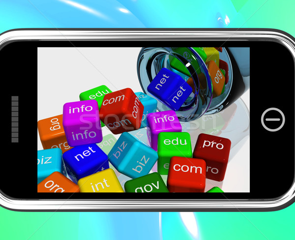 Domain Dices On Smartphone Showing Random Browsing Stock photo © stuartmiles