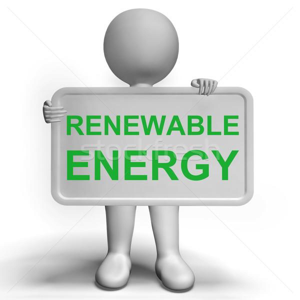 Energii ze źródeł odnawialnych podpisania recyklingu ziemi zielone Zdjęcia stock © stuartmiles
