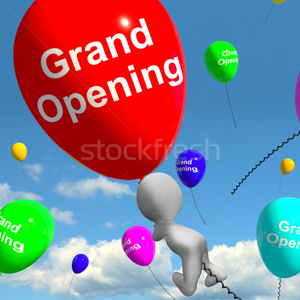 Grand Opening Balloons Shows New Store Launching Stock photo © stuartmiles