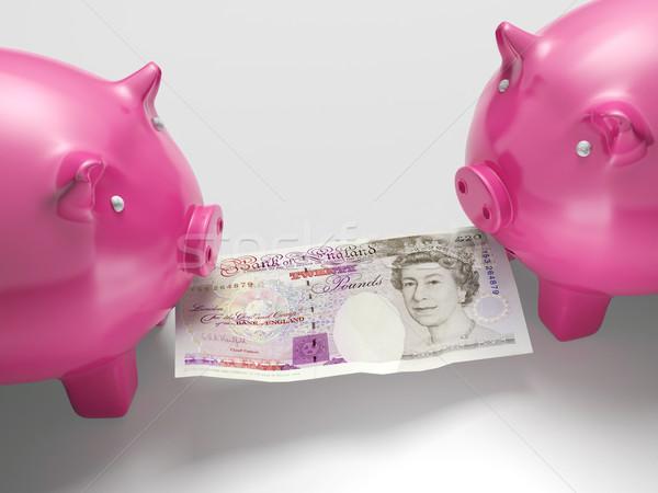 Harcol pénz közgazdaságtan pénzügyek pénzügy disznó Stock fotó © stuartmiles