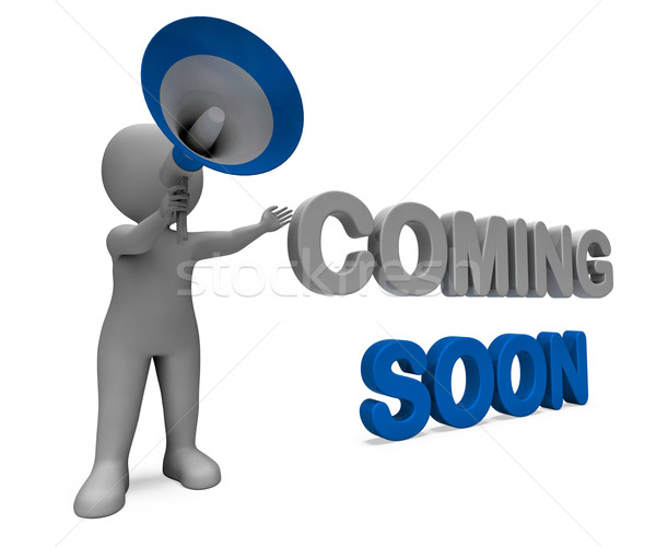 Coming Soon Character Shows New Arrivals Or Promotional Product Stock photo © stuartmiles