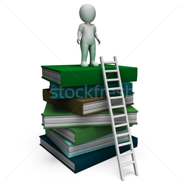 Student On Books Shows Educated Stock photo © stuartmiles