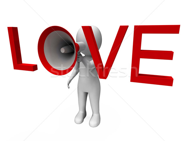 Love 3d Character Shows Romance Loving And Feelings Stock photo © stuartmiles