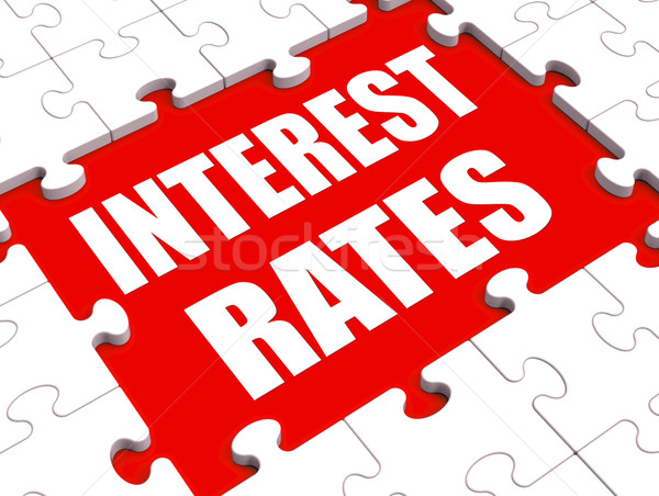 Interest Rate Puzzle Shows Investment Or Borrowing Percent Stock photo © stuartmiles