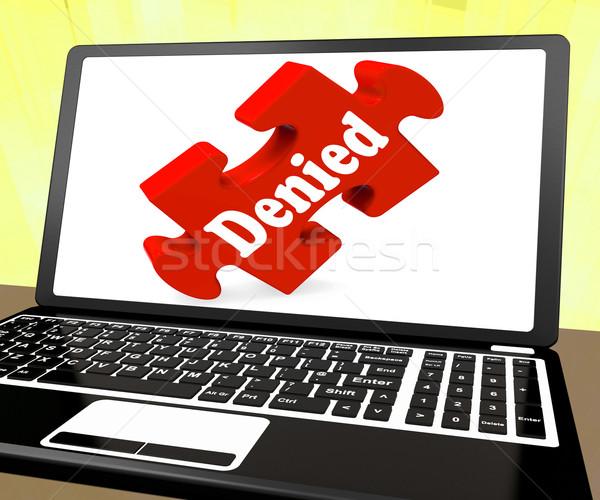 Laptop negação diminuir Foto stock © stuartmiles