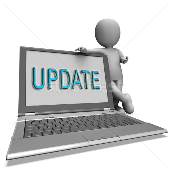 Update Laptop Means Updating Modified Or Upgrading Stock photo © stuartmiles