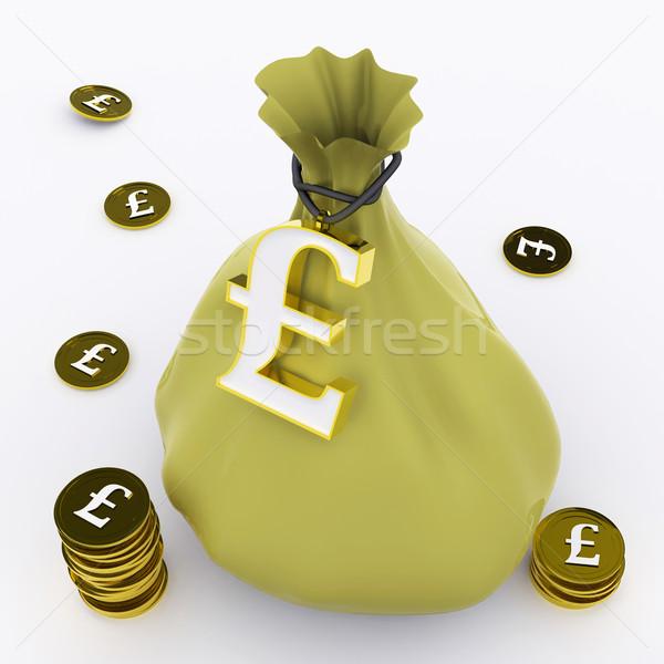 Pound bag britannico abbondanza soldi significato Foto d'archivio © stuartmiles