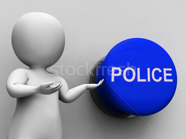 Police Button Means Law Enforcement Or Officer Stock photo © stuartmiles