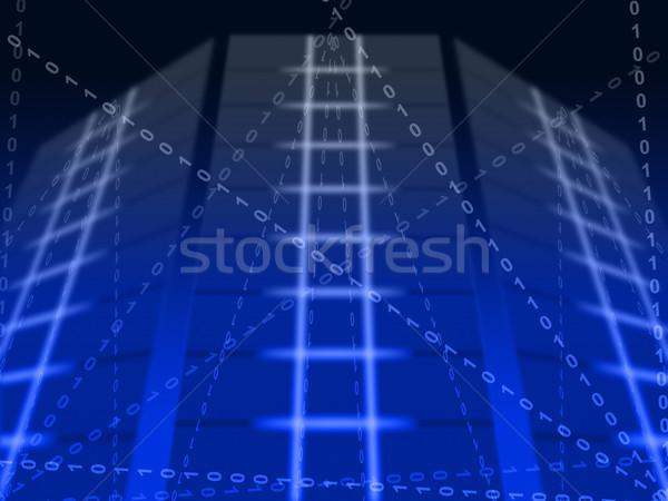 青 バイナリ 回路 デジタル 通信 ストックフォト © stuartmiles