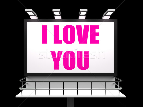 I Love You Sign Refer to Romantic Loving and Caring Stock photo © stuartmiles