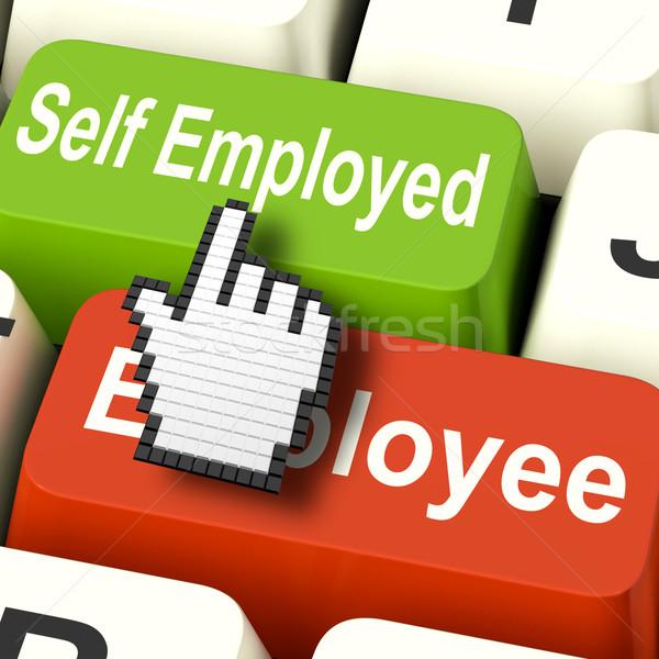 Self Employed Computer Means Choose Career Job Choice Stock photo © stuartmiles