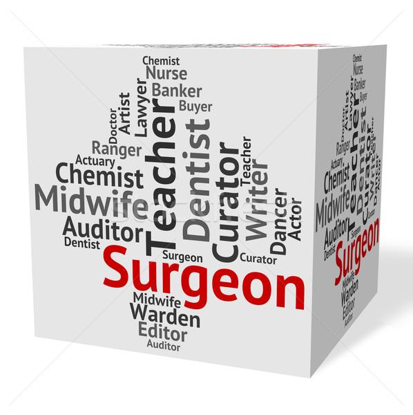 хирург работу общий практикующий врач сотрудник работу Сток-фото © stuartmiles