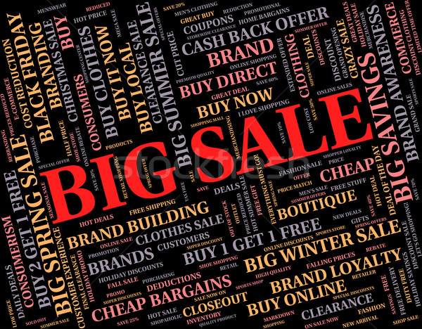 Big Sale Indicates Save Promo And Bargain Stock photo © stuartmiles