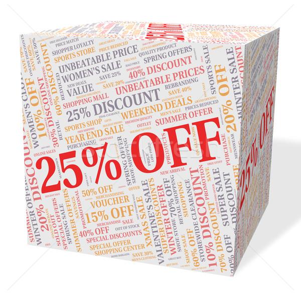 Vinte cinco por cento barganha salvar palavra Foto stock © stuartmiles