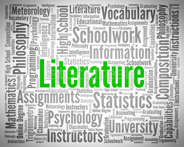 Literature Word Shows Creative Writing And Text Stock photo © stuartmiles