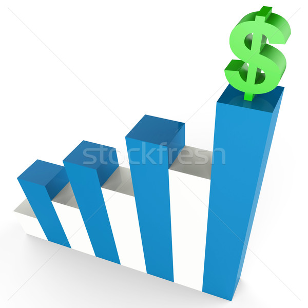 Dollar Gain Indicates Business Graph And Banking Stock photo © stuartmiles
