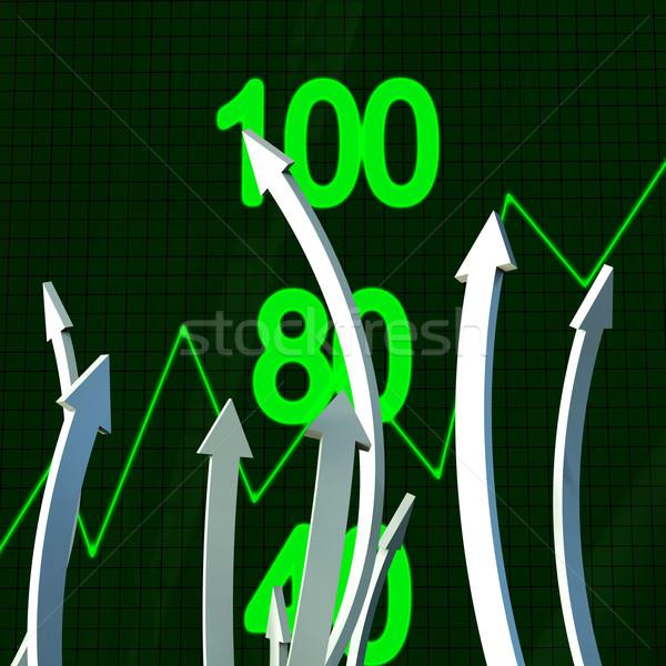 Progress Arrows Represents Business Graph And Analysis Stock photo © stuartmiles
