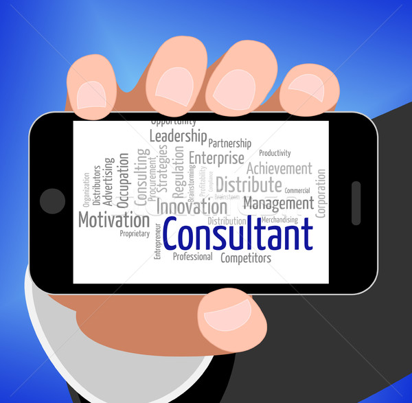 Consultant Word Represents Specialist Wordcloud And Authority Stock photo © stuartmiles