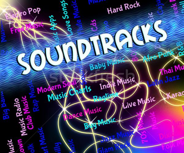 Zene videojáték jelentés mozifilm televízió film Stock fotó © stuartmiles