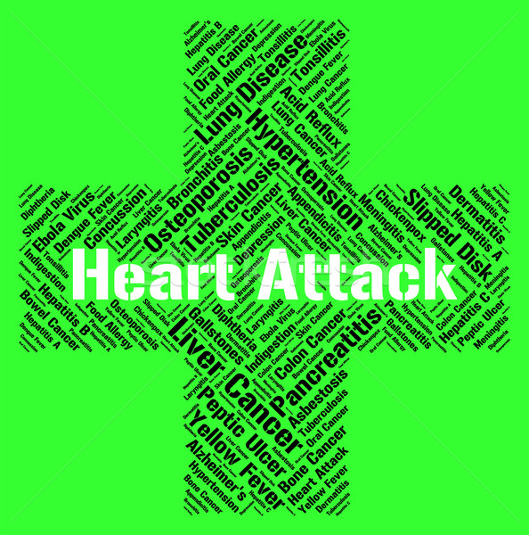 Heart Attack Indicates Cardiac Arrests And Ailments Stock photo © stuartmiles
