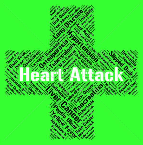 сердечный приступ сердце сердцах болезнь болезнь Сток-фото © stuartmiles