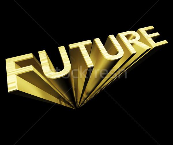 将来 文字 金 3D シンボル 改善 ストックフォト © stuartmiles